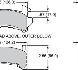 Wilwood Brakes Street Performance / Racing Pads - Plate: D154 - Compound: BP-20 150-9422K