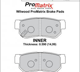 Wilwood Brakes Street Performance / Racing Pads - Plate: D813 - Compound: PM - ProMatrix 150-D0813K