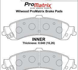 Wilwood Brakes Street Performance / Racing Pads - Plate: D834 - Compound: PM - ProMatrix 150-D0834K