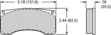 Wilwood Brakes High-Temperature Racing Pads - Plate: 9220 - Compound: PolyMatrix H 15H-8113K-B
