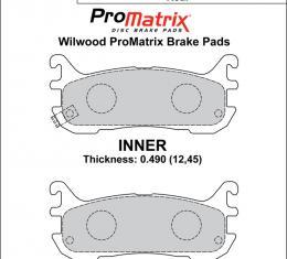 Wilwood Brakes Street Performance / Racing Pads - Plate: D636 - Compound: PM - ProMatrix 150-D0636K
