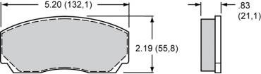 Wilwood Brakes High-Temperature Racing Pads - Plate: 8521 - Compound: PolyMatrix H 15H-8128K