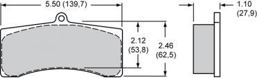 Wilwood Brakes High-Temperature Racing Pads - Plate: 9728 - Compound: PolyMatrix H 15H-8120K-B