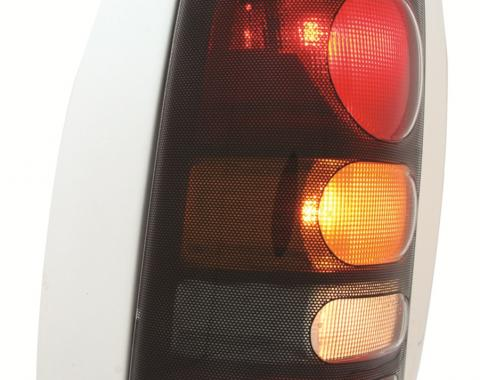 GT Styling 971105, Tail Light Cover, Pro-Beam (TM), Solid, Carbon Fiber, Plastic, Set Of 2