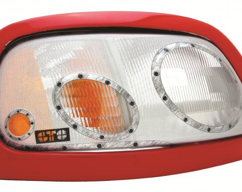 GT Styling 968098, Headlight Cover, Pro-Beam (TM), Full Cover, Solid, Platinum, Plastic, Set Of 2