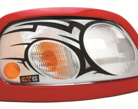 GT Styling 968097, Headlight Cover, Pro-Beam (TM), Full Cover, Tribal, Clear, Plastic, Set Of 2