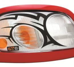 GT Styling 961957, Headlight Cover, Pro-Beam (TM), Full Cover, Tribal, Clear, Plastic, Set Of 2