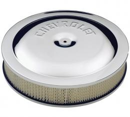 Proform Air Cleaner Kit, Chrome, Embossed Chevy Logo, 14 In. Diameter, With Center Nut 141-307