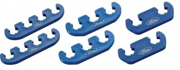 Proform Spark Plug Wire Dividers, Universal 2-3-4 Wire, w/ Ford Oval Logo, Blue 302-637