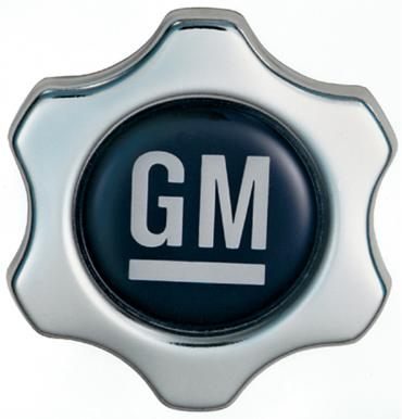 Proform Engine Oil Filler Cap, Chevy Style Valve Cover Hole, White on Blue GM Logo 141-631