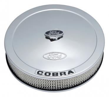 Proform Air Cleaner Kit, Chrome, Embossed Cobra Logo, 13 In. Diameter, With Center Nut 302-371