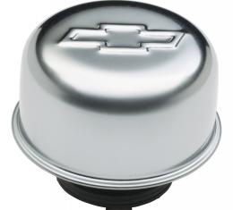 Proform Valve Cover Breather Cap, Chrome, Twist-On Type, 3in. Diameter, With Bowtie Logo 141-618