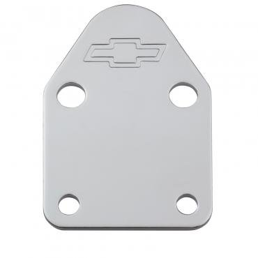 Proform Fuel Pump Block-Off Plate, Chrome with Bowtie Logo, Fits SB Chevy V8 Engines 141-210