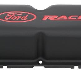 Proform Engine Valve Covers, Tall Style, Steel, Black with Ford Logo, For SB Ford 302-072