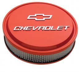 "Proform 14"" Air Cleaner Kit, Aluminum, Chevy Orange, Raised Chevy and Bowtie Emblems 141-831"