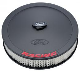 Proform Air Cleaner Kit, Black, Inlaid Ford Logo with Red Lettering, 13 In. Diameter 302-352