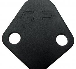 Proform Fuel Pump Block-Off Plate, Blk Crinkle with Bowtie, Fits BB Chevy V8 Engines 141-213