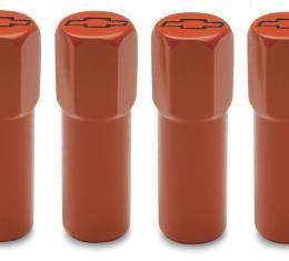 Proform Engine Valve Cover Mini Nuts, Steel, Orange, Bowtie Logo, Studs Included 141-601
