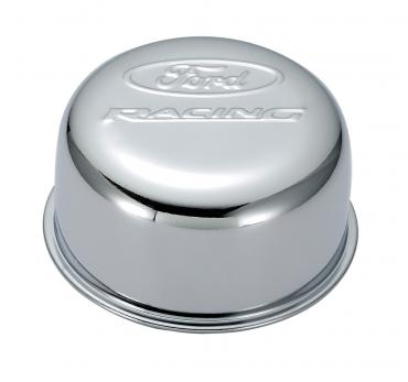 Proform Valve Cover Breather Cap, Chrome, Twist-On Type, 3in. Diameter, With Ford Logo 302-200