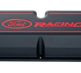 Proform Engine Valve Covers, Tall Style, Die Cast, Black with Ford Logo, For SB Ford 302-003