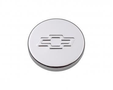Proform Engine Oil Filler Cap, Push-In Style, 1.22 Hole, Embossed Bowtie Logo, Chrome 141-630