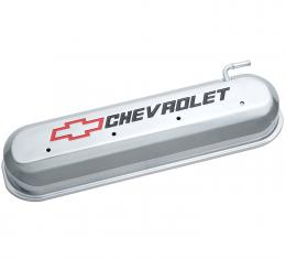 Proform Engine Valve Covers, Tall Style, Die Cast, Polished with Bowtie Logo, LS Engines 141-264