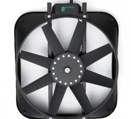 Proform Electric Radiator Fan, High Perf. Mustang Model with Thermostat, 15 In, 2800CFM 67015