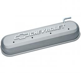 Proform Engine Valve Covers, Tall Style, Die Cast, Gray with Bowtie Logo, LS Engines 141-263