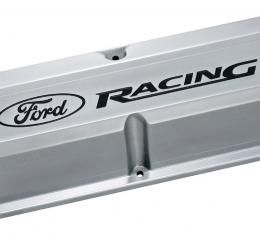Proform Engine Valve Covers, Tall, Aluminum, Polished with Ford Racing Logo, Ford SB 302-138