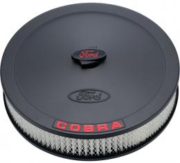 Proform Air Cleaner Kit, Black, Embossed Cobra Logo, 13 In. Diameter, With Center Nut 302-372