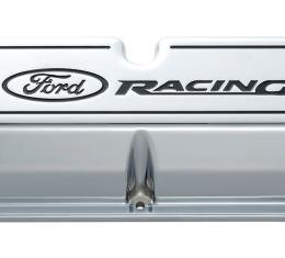 Proform Engine Valve Covers, Tall Style, Die Cast, Chrome with Ford Logo, For SB Ford 302-002