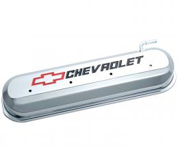 Proform Engine Valve Covers, Tall Style, Die Cast, Chrome with Bowtie Logo, LS Engines 141-265