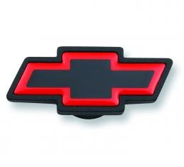 Proform Air Cleaner Center Nut, Large Chevy Bowtie Style, Black Crinkle w/ Red Outline 141-369