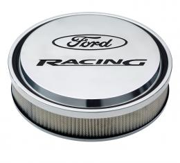"Proform Slant-Edge Aluminum Air Cleaner Kit, Polished, Recessed Painted Emblems, 13"" 302-383"