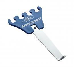 Proform Plug Wire Loom/Divider Set, Universal, Chrome, Blue Plastic, Ford Logo, 1-Pair 302-636