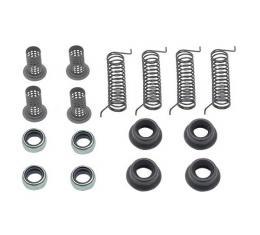 Ford Pickup Truck Disc Brake Hardware Kit - Dual Piston Calipers - 2-Wheel Drive - F250 Thru F350