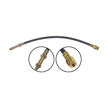Ford Pickup Truck Front Brake Hose - 18-1/2 Long Including Threads - F100 & F250