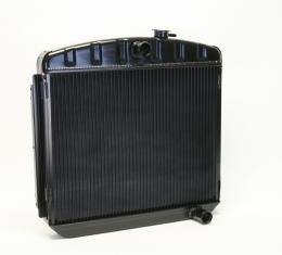 DeWitts 1955-1957 Chevrolet Bel Air Direct Fit Radiator Black, Manual 32-1239012M