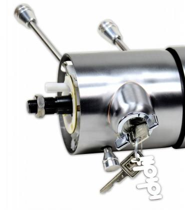 "ididit Universal  1/4"" 9-bolt Tilt/Tele, Tilt Floor Shift w/Ignition, Paintable Steel 1580160010"