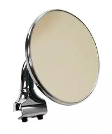 RPC Racing Power Company R6610, Exterior Mirror, 4 Inch Round, Short Arm, Aftermarket Conversion, Single, Chrome Plated, With Mirror/ Chrome Plated Mounting Hardware