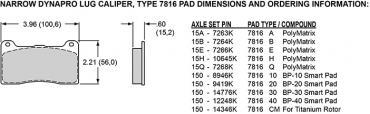 Wilwood Brakes Billet Narrow Dynalite Radial Mount 120-6453