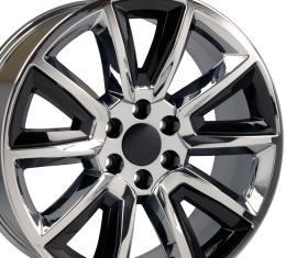 """20"""" Fits Chevrolet - Tahoe Wheel - Chrome with Black Inserts 20x8.5"""
