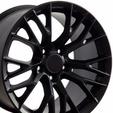 "18"" Fits Chevrolet - C7 Z06 Wheel - Matte Black 18x8.5"