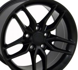 Matte Black Wheel fits Corvette C6 (Stingray style) 19x10