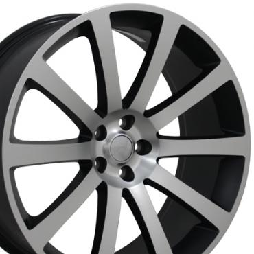 "22"" Fits Chrysler - 300 SRT Wheel - Matte Black Machined Face 22x9"