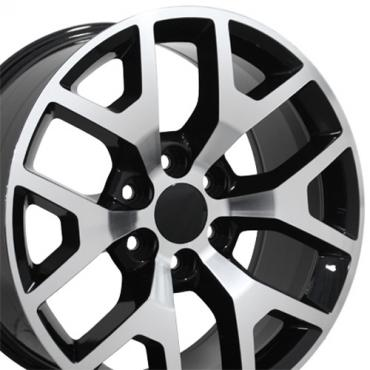 "20"" Fits GMC - Sierra 1500 Wheel - Black Mach'd Face 20x9"