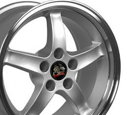 "17"" Fits Ford - Mustang Cobra R Wheel - Silver 17x9"