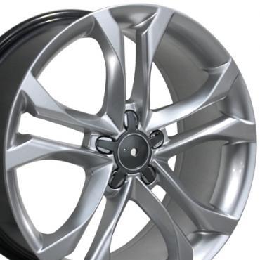 """18"""" Fits Audi - S4 Wheel - Hyper Silver 18x8"""