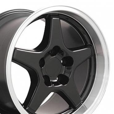 "17"" Fits Chevrolet - Corvette ZR1 Wheel - Black 17x11"