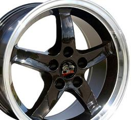 "17"" Fits Ford - Mustang Cobra R Wheel - Black 17x9"